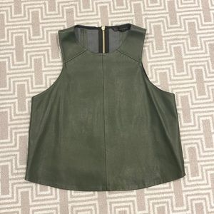 Green Faux Leather Zara Top